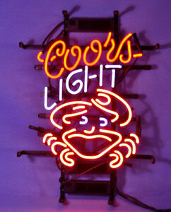 Coors Light Crab Beer Bar Neon Sign Mancave Pub Garage Light Custom Z027