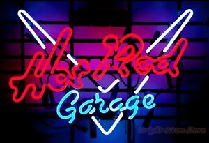 Hot Rod Garage Neon Sign For Store Beer Bar Pub Garage Real Neon Light Sign Z579