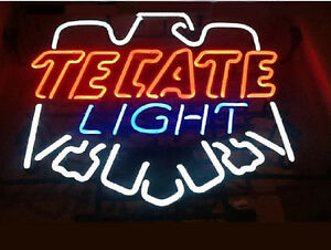 Tecate Light Beer Neon Sign Display Beer Bar Pub Man Cave Light Sign Custom Z424
