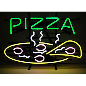 Pizza Food Neon Sign Display Restaurant Store Beer Bar Real Neon Light Sign Z087
