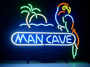 Man Cave Neon Sign Store Display Beer Bar Mancave Pub Real Neon Light Custom 041
