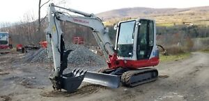 2012 Takeuchi Tb235 Excavator Cab Heat A c Long Arm Hydraulic Thumb Ready 2 Work