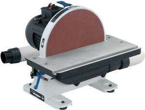 120 v 1 2 Hp 12 In Disc Sander Table Bench 80 Grit Abrasive Cutting Power Tool