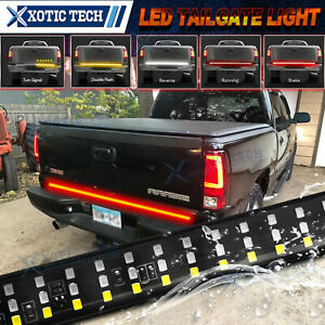 60 Inches Triple Rows 432led Tailgate Light Bar Brake Tail Light For Gmc Sierra