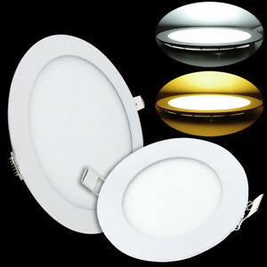 Ultra Thin Led Ceiling Lights Panel Flat Downlight Dimmable Round Lamp Bulb Home