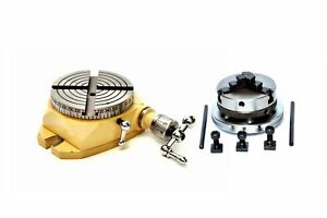 2 75 Rotary Table With 3 Jaw 65mm Self Centering Chuck