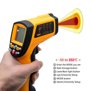 Handheld Lcd Digital Laser Thermometer Temperature Gun Infrared Non contact Ir