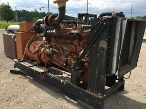 Generac Diesel Generator 180kw 225kva Low Hours Standby Use Only
