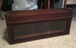 Globe Wernicke Mahogany Barrister Bookcase Section Top Art Mission