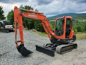 2014 Bobcat E35 Excavator Hydraulic Thumb Low Hours Kubota Diesel Ready To Work