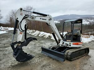 Bobcat E80 Excavator Long Arm Hydraulic Thumb Low Hours Exceptional We Finance