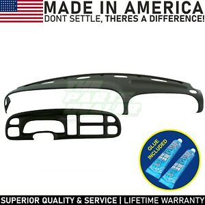 1999 2000 2001 Dodge Ram Dash Cover Skin Cap W Bezel Cover Agate Dark Grey