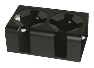 Tuffy Security 034 01 Cup drink Holder Double In Black 2 Oversized 3 1 2