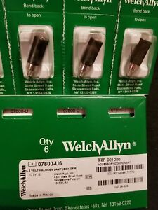 Welch Allyn 07800 u6 3 5v Halogen Lamp Box Of 6