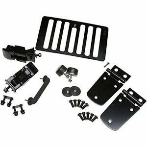 Kentrol Black Stainless Steel Hood Kit 1998 2006 Jeep Wrangler Tj