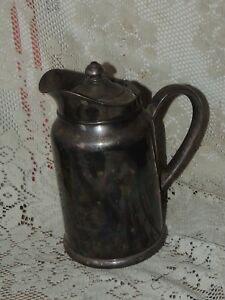 Vintage Reed Barton Silver Soldered Pitcher Coffee Pot Look