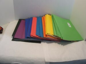 Lot Of 59 Staples 2 pocket Paper Folders With Fasteners Varied Colors