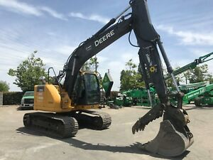2013 John Deere 135g Excavator T4i w Hyd Thumb Excellent Condition