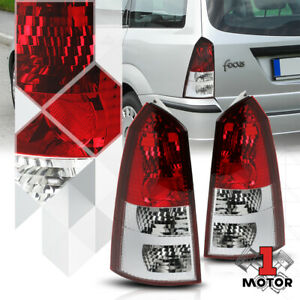 Red Clear Euro Altezza Tail Light Rear Brake Lamp For 02 07 Ford Focus Wagon