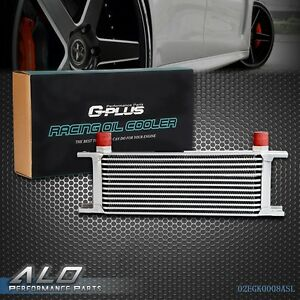 Gplus 13 Row 10an Universal Aluminum Engine Transmission Oil Cooler Silver