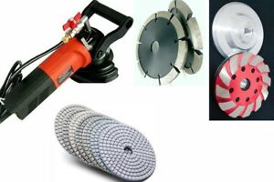 Wet Polisher Wall Chaser Slotting Machine 16 Polishing Pad Stone Concrete Grout