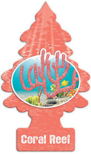 Little Trees Air Freshener Coral Reef Fragrance Car Truck Taxi Freshener Scent