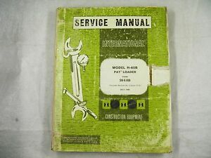 Ih International H 60b Payloader Service Manual Chassis Oem Sm h60b 1968