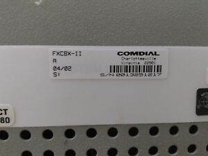 Comdial Fx Ii mp5000 Fxcbx ii Main expansion Cabinet