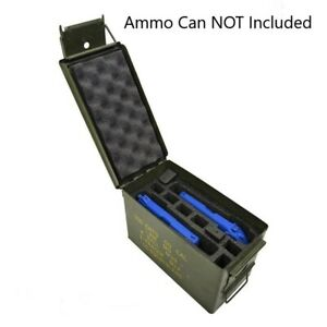 BEST! 2 PISTOL + 8 MAG Military Foam Insert for .50 Cal Ammo Can Carry Case
