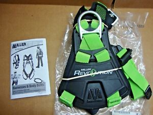 New Miller By Honeywell Revolution Duraflex Quick connect Full body Harness Size