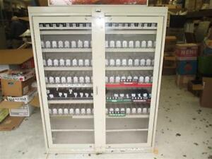 Two Marlboro Cigarette Retail Heavy Metal Display Store Sales Rack