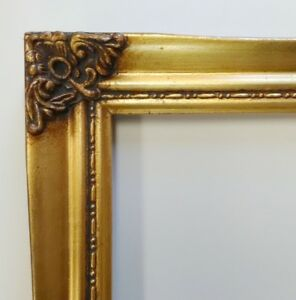 Picture Frame 5x7 Vintage Antique Style Baroque Gold Ornate W Glass 328g