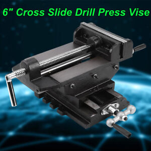 6 Cross Drill Press Vise Slide Metal Milling 2 Way X y Clamp Machine Heavy Duty