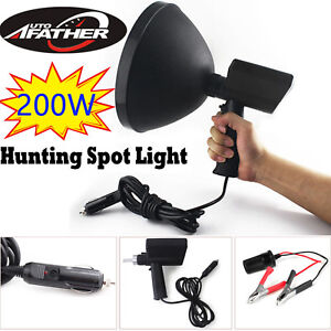 1000w Spotlight Handheld Portable Searchlight Xenon Hid Hunting Camp Flashlight