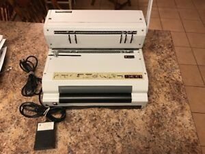Akiles Coilmac 41 eci Electric Coil Binding Machine Punch W Pedal Working