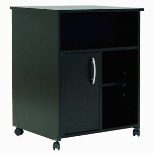 South Shore Axess Collection Printer Stand Pure Black