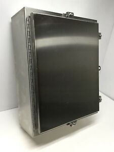 Wiegmann Ssn4201606 Electrical Enclosure Box Stainless Steel Cabinet 20 x16 x6