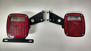 New Pair Oem Ford Super Duty Stake Truck Cab Chassis F450 F550 Tail Brake Lights