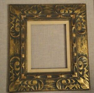 Vtg Gilded Wide Ornate Curved Wooden Empty Picture Frame 19x16 75 Insert 8x10