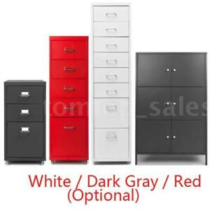 Hot 3 5 8 Drawers Metal Home Office Filing Cabinet File Storage W Castors F6p2