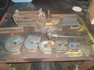 Parker Hannifin Model H824 Manual Crank Tubing Bender With Dies
