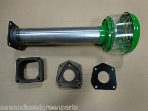 John Deere 730 Air Cleaner Base Stack Tube With Precleaner And Spacer Block