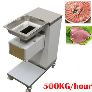 Commercial Meat Slicer Cut Machine Cutter 500kg hour Stainless 3mm Thickness Fda