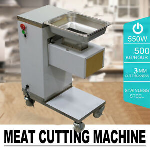 Professional Commercial Meat Slicer Meat Cut Machine Cutter 500kg hour Stainless