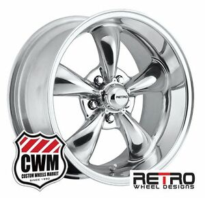 17 Inch 17x8 17x9 Polished Aluminum Wheels Rims For Chevy Chevelle 1966 1972