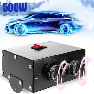 12v 500w Universal Car Under Dash Heater Compact Speed Switch Defroster Demister