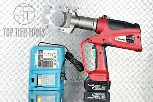 Burndy Patcut245li Battery operated Hydraulic Cable Wire Cutter Cu Al 2 45 Max