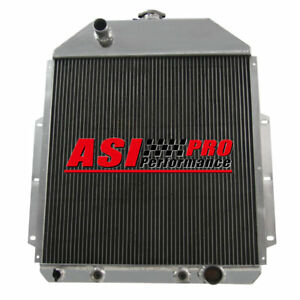 3 Row Aluminum Radiator For 1942 1952 Ford F1 Pickup Truck W chevy V8 43 1944 45