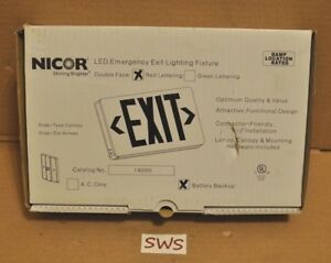 new Nicor Led Emergency Exit Lighting Fixture 18200