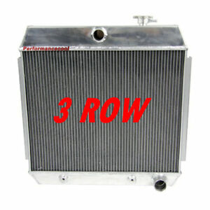 3 Row Core Aluminum Radiator For 1955 1957 Chevy Bel Air 210 150 4 3l 4 6l V8